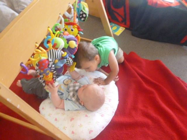 We just love having new children start at Rockabye, this is a lovely shot of Tyler and Jackson getting to know one another.