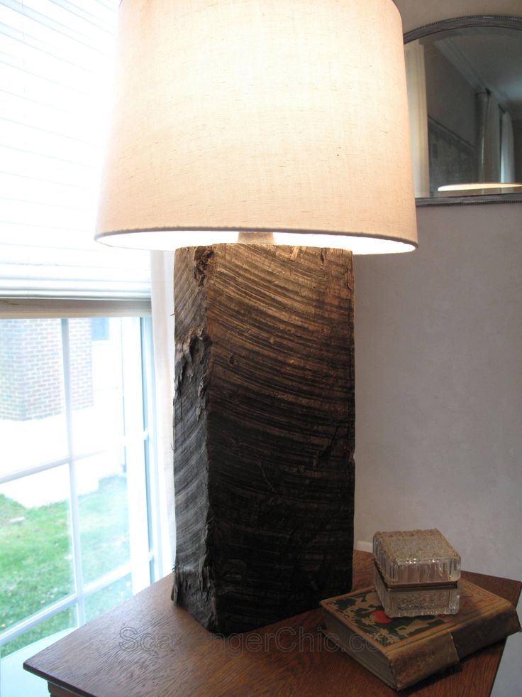 Railroad Tie lamp diy, Homemade Lamp, Repurposed lamp, Recycled Lamp, diy lamps…