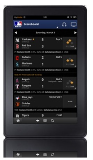 I downloaded the MLB At Bat for Kindle Fire and now I get to listen to ALL the Red Sox game!  Score!!!!!  Completely worth it!