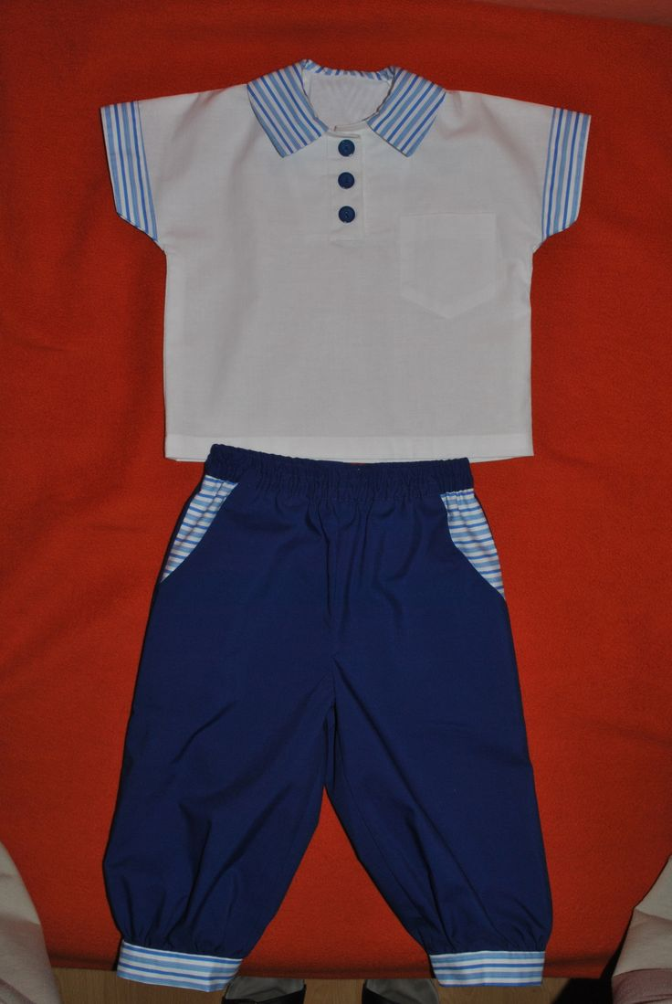 t-shirt and pants for 1year old boy in sailor style :)