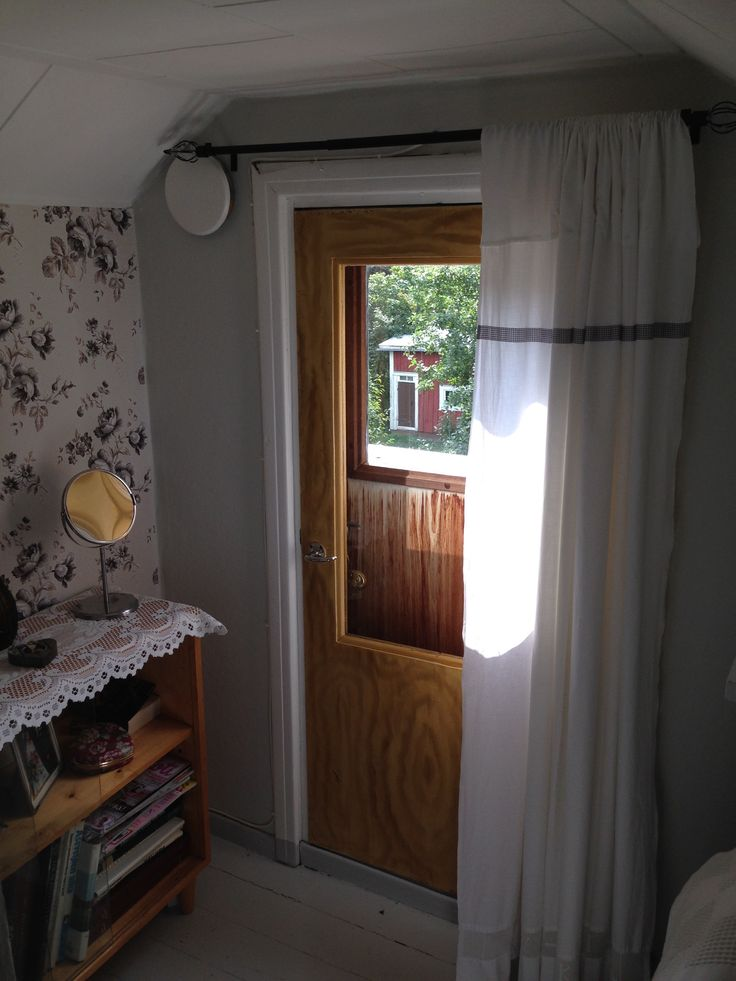 Bedroom, balcony door waiting to be painted with white...