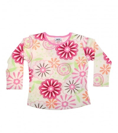 $14.95 sale ends 30th July Girls Clothing Sizes 6months - 9years - White / Multi Long Sleeve Flower Print Top