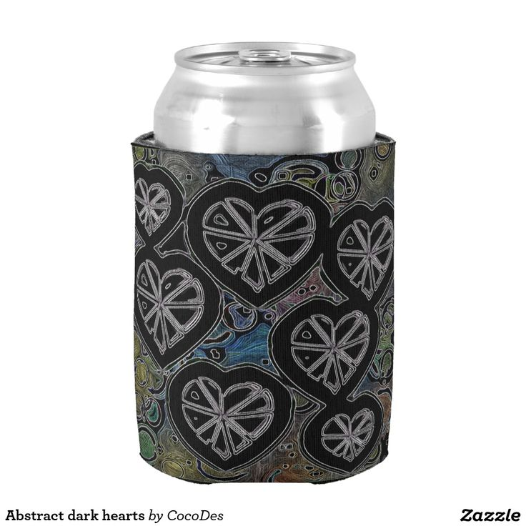 Abstract dark hearts can cooler for Valentine's Day