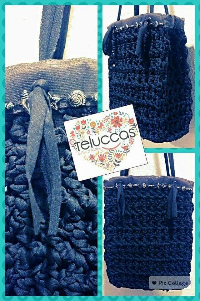 Bolso de trapillo plano. Teluccas Madejas. #trapillo #Trapillo #tejer #manualidades #hechoamano #hechoenmexico #crochet
