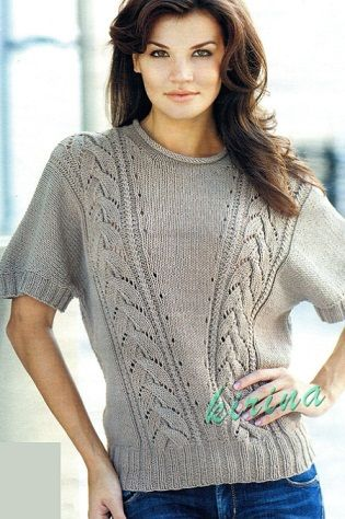 Схема пуловера спицами