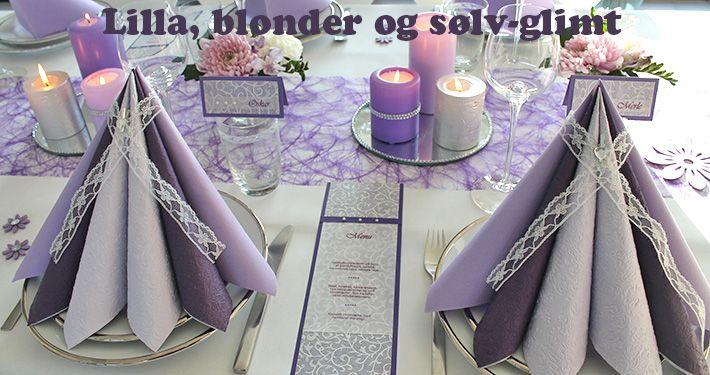 lilla borddækning til konfirmation