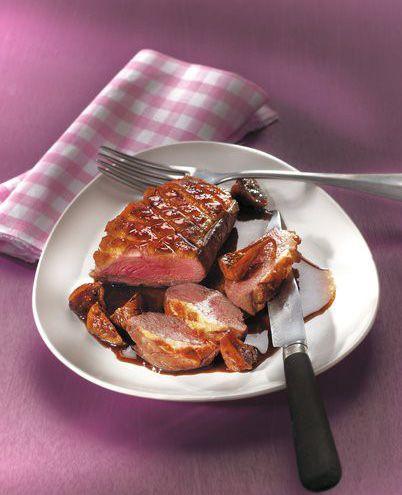 Recette Magret de canard au beurre rouge.