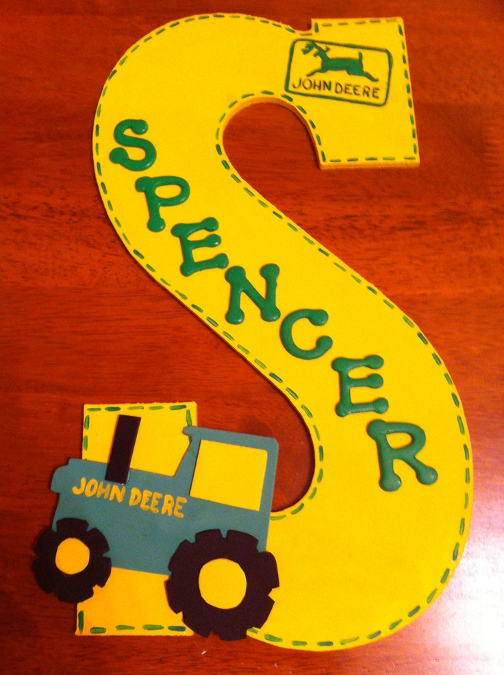 John Deere Personalized Homemade Diy Nursery Decor Wall Letters Kids Door Signs Crib Mobiles
