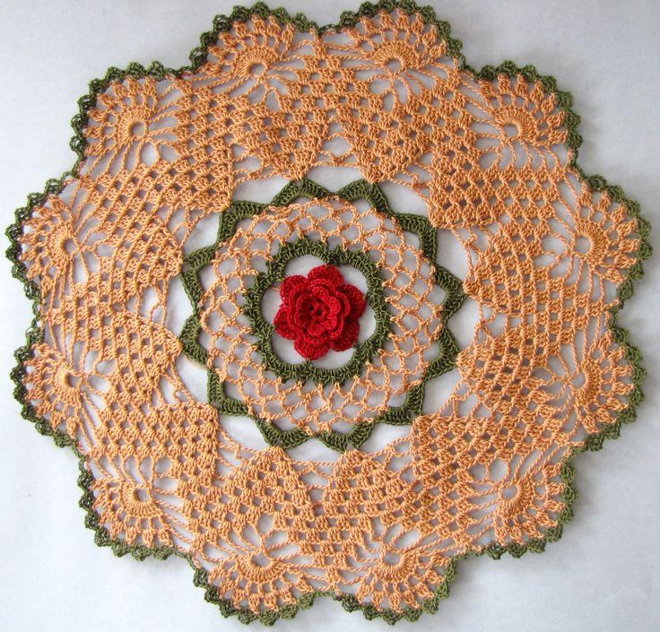 198 Best Rose Doilies Images On Pinterest Crochet Doilies Doilies