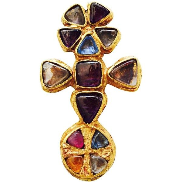 3ffb4be109d Preowned Rare Robert Goossens For Gabrielle Chanel Pendant Brooch...  ($14,500) ❤ liked on Polyvore featuring jewelry, brooches, multiple, m…