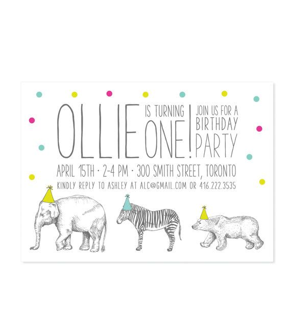 DIGITAL Party Invitation Zoo Animals by FlakesPaperie on Etsy