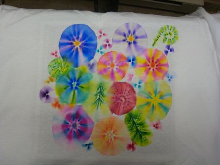 sharpie flower t-shirt pre-wash