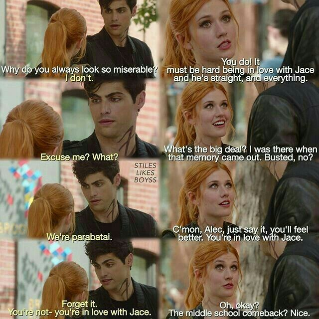 """#Shadowhunters 1x05 """"Moo Shu to Go"""" - Clary and Alec"""