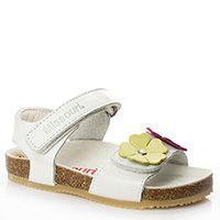 Купить — Кожаные сандалии для девочки с ортопедической подошвой Missouri белые