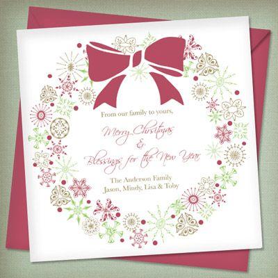 Christmas Invitation Templates with Wreath