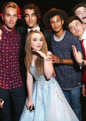 Sabrina Carpenter at her 16 birthday with Disney stars <3 <3