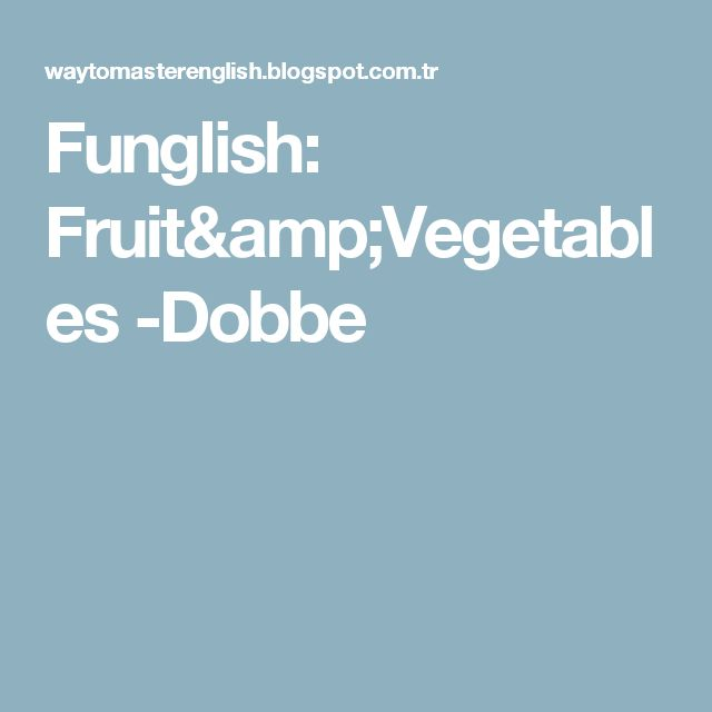 Funglish: Fruit&Vegetables -Dobbe