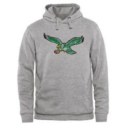 Men's Philadelphia Eagles Pro Line Throwback Logo Pullover Hoodie