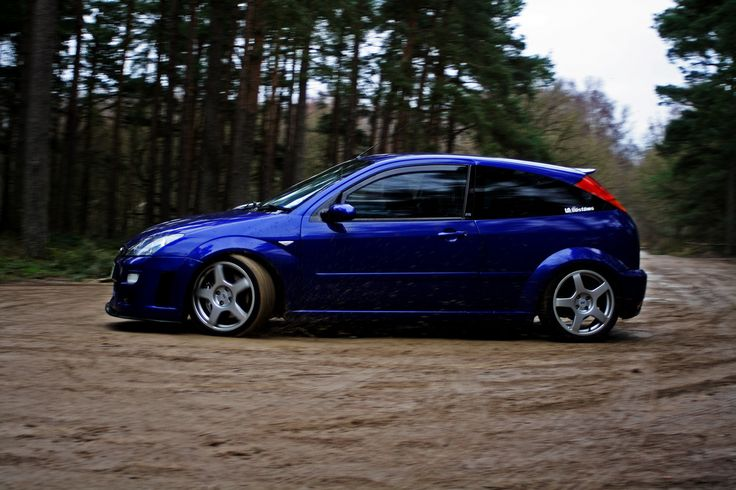 Ford Focus RS on gravel road like WRC