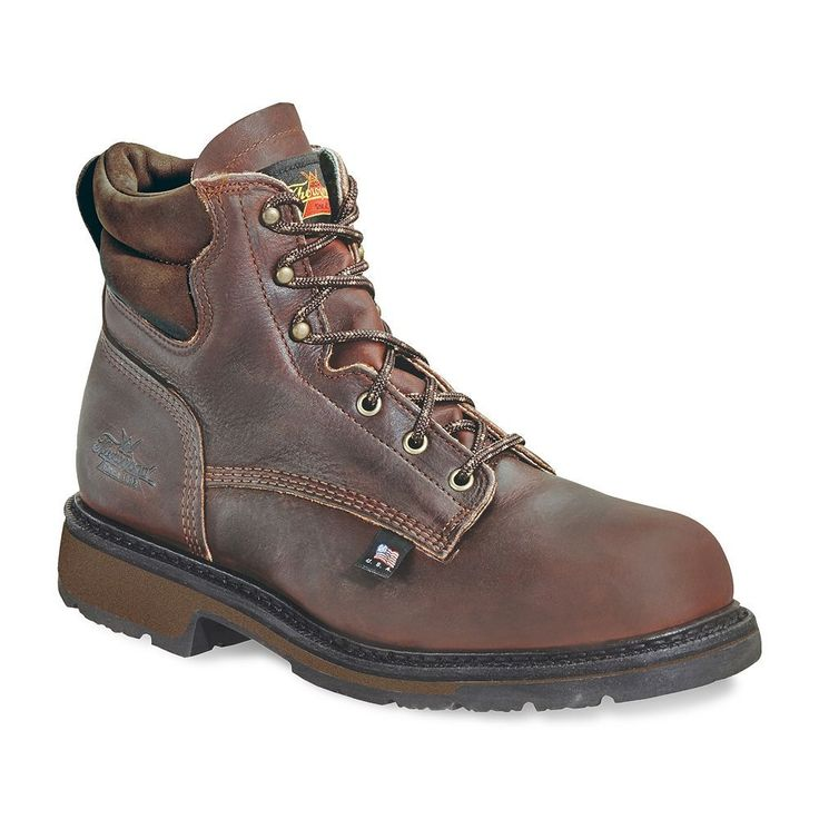 Thorogood 1892 Portage Men's Steel-Toe Work Boots, Size: 11.5 Nar B, Brown