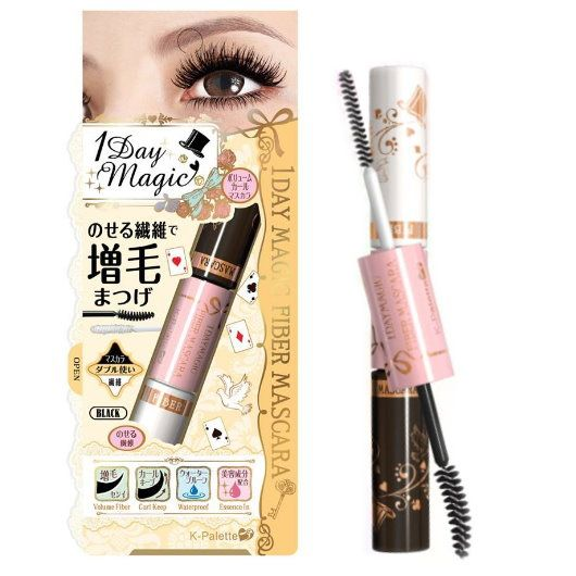 K-Palette 1 Day Magic Fiber Mascara is a dual mascara with fibers in one tip and a black mascara in the other tip.Restore the natural look of eyelashes...