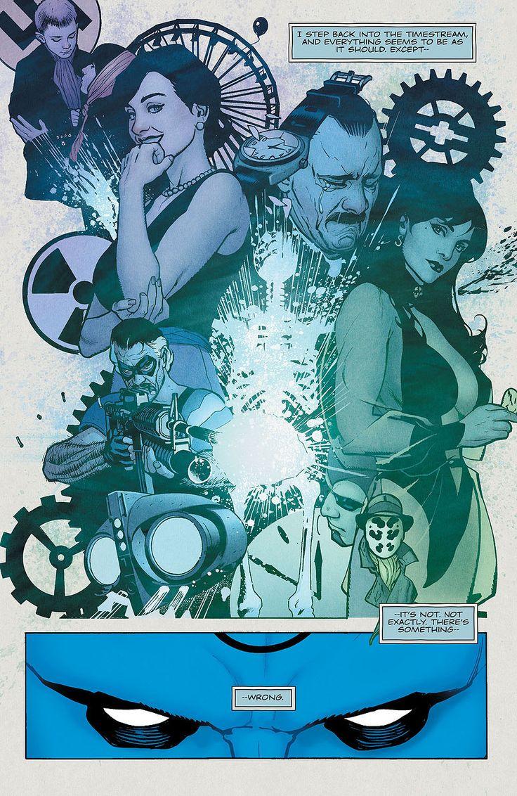Before Watchmen: Dr Manhattan #4. Art by Adam Hughes. Read Before Watchmen is a sin, of course, but: ADAM HUGHES... :)