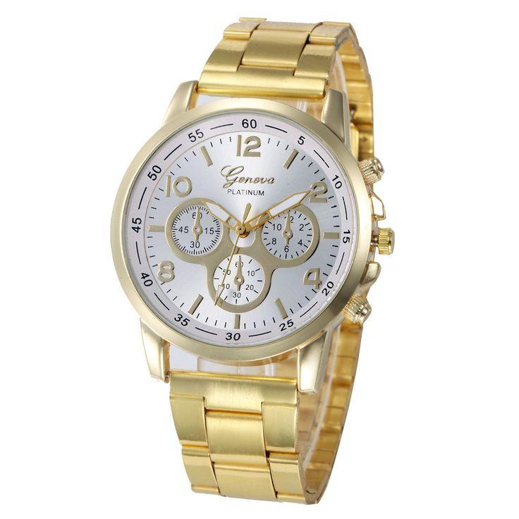 $2.43 (Buy here: https://alitems.com/g/1e8d114494ebda23ff8b16525dc3e8/?i=5&ulp=https%3A%2F%2Fwww.aliexpress.com%2Fitem%2FHot-Sale-Geneva-Women-Men-Watches-Gold-Stainless-Steel-Analog-Quartz-Wrist-Watch-Clock-Relogio-Masculino%2F32779868957.html ) Hot Sale Geneva Women Men Watches Gold Stainless Steel Analog Quartz Wrist Watch Clock Relogio Masculino Feminino New Fashion for just $2.43