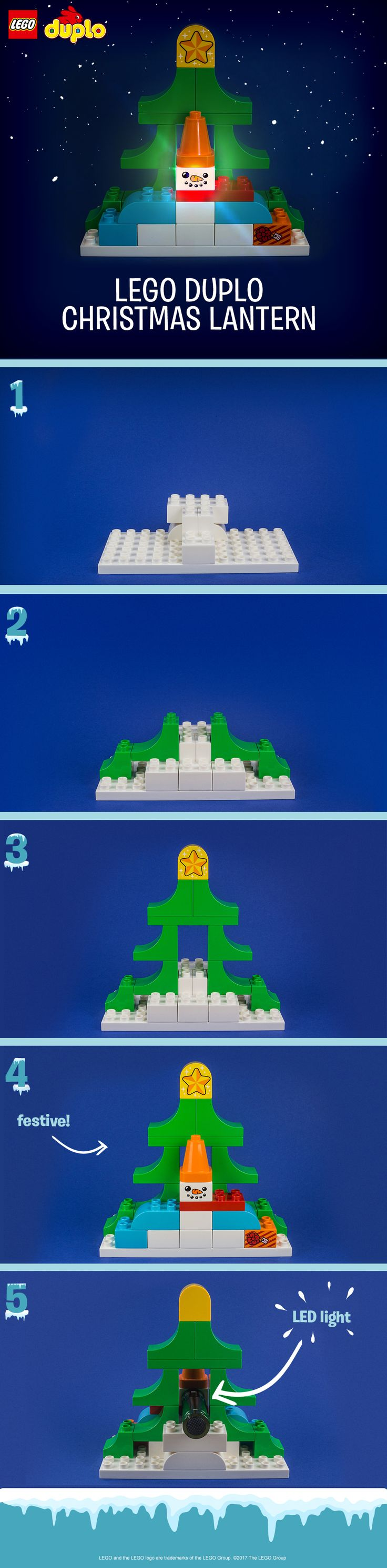 This Christmas building activity is fun for the whole family and perfect for a moment of quiet time during the busy holiday season. We've used bricks and characters from the LEGO DUPLO Santa's Winter Holiday set to make this festive lantern. Build a Christmassy scene from the set, then use an LED light or a cell phone to create the magical light up effect! Encourage your kids to try lots of different versions - they can even use it to decorate the house or their bedroom afterwards. Click to…