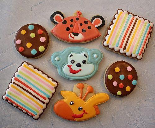 jungle baby shower cookies