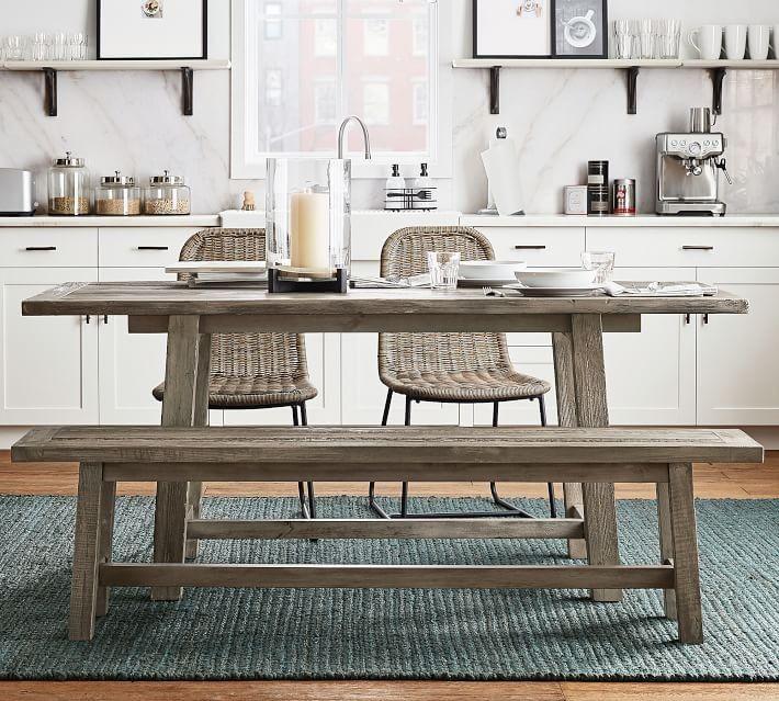 Bartol Reclaimed Wood Dining Table Cinder Gray 71 L X 33 W Pine Dining Table Reclaimed Wood Dining Table Reclaimed Pine Dining Table
