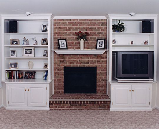 Bookcase Built In Bookshelves Around Fireplace | Custom Built Cabinets for your fireplace