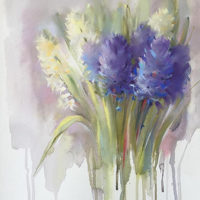 Olena Duchene  Pastel and watercolor