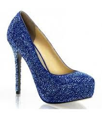 Risultati immagini per scarpe blu con tacco