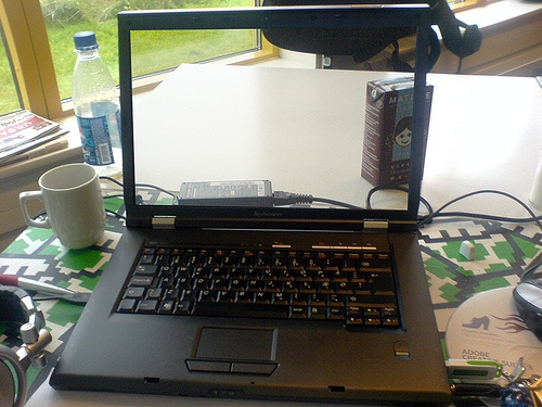 My laptop, with a transparent screen :P