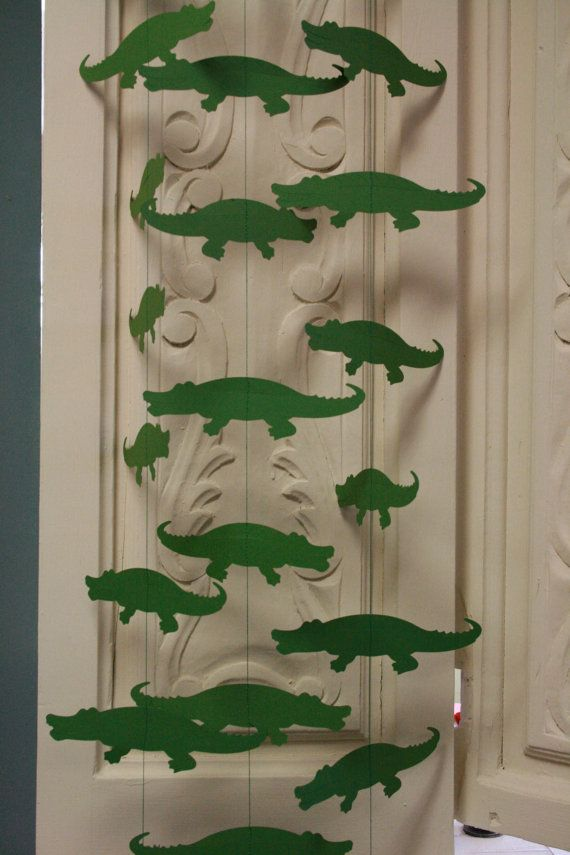 Alligator Zoo Decor Zoo Animal Party Garland by TheShabbyScrapper