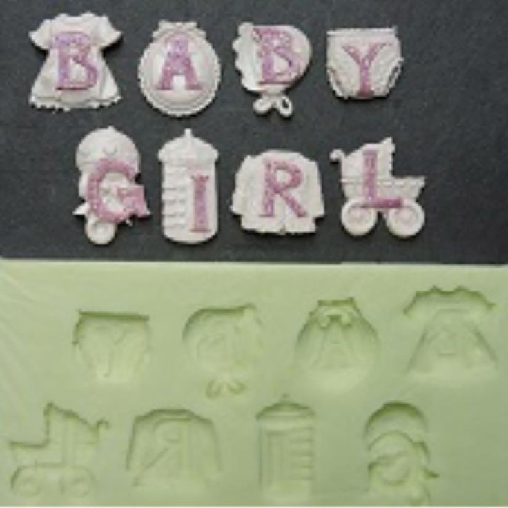 Baby Girl Silicone Mould - Babys First