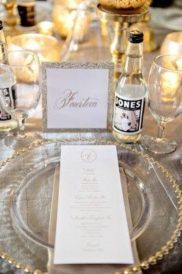 Jones Soda Bottle Favors    Photography: Milanés Photography   Read More:  http://www.insideweddings.com/weddings/white-silver-gold-wedding-at-the-biltmore-ballrooms-in-atlanta/680/