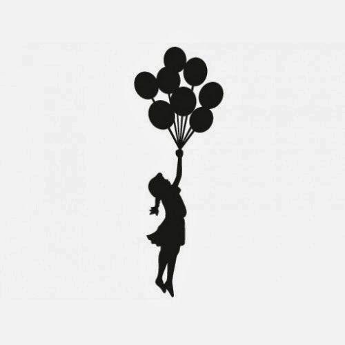 desenho de menina com balão - Pesquisa Google | Tatuagens | Pinterest | Pesquisa
