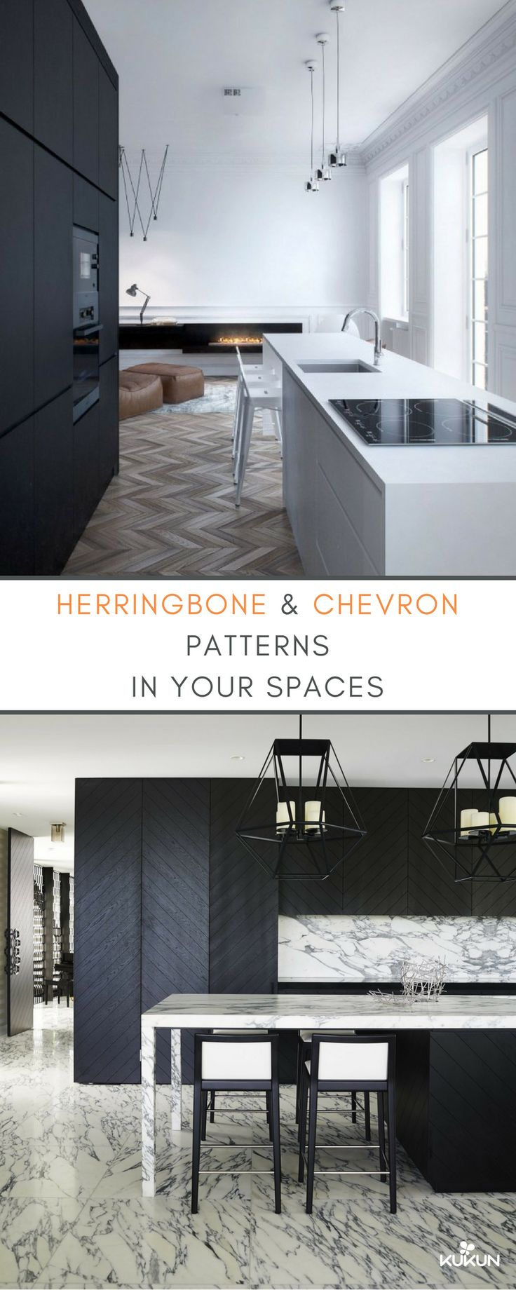 8 Rooms That Will Make You Rethink Herringbone and Chevrons. Chevron and  Herringbone patterns ...
