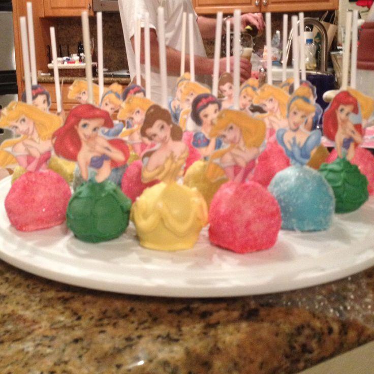 Disney Princess Cake Pops Aurora, Belle, SnowWhite, Arial ...