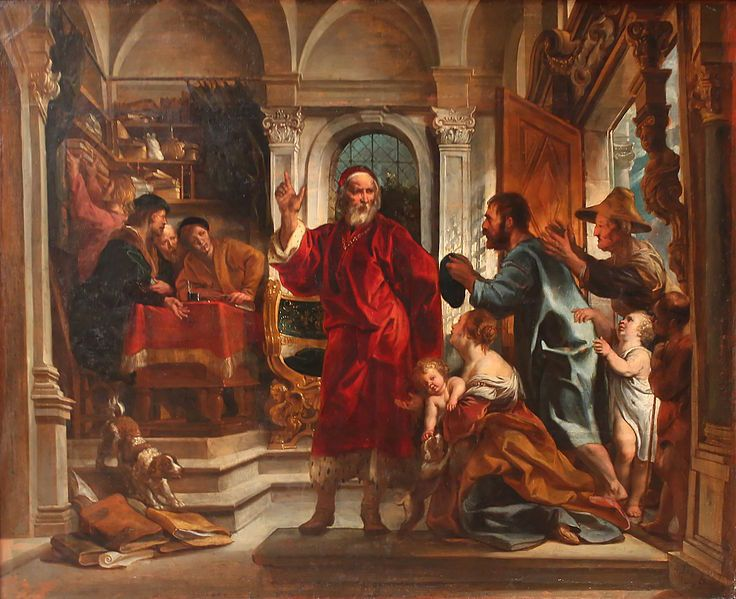 Saint Yves, patron des avocats, par Jacob Jordaens (1593–1678)