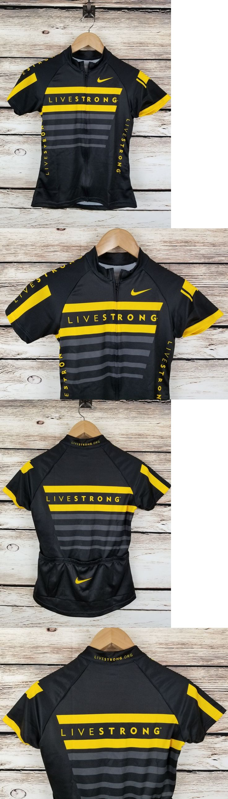Jerseys 56183: New Nike Livestrong Womens Cycling Jersey Small S S Full Zip Black Yellow Swoosh -> BUY IT NOW ONLY: $49.99 on eBay!