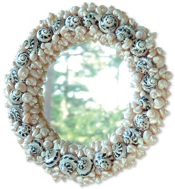 shell mirrors images | Round Shell Mirror (2 Sizes): Beach Decor, Coastal Home Decor ...