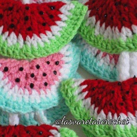 Las Varetas Crochet: Jugosas Sandias a Crochet