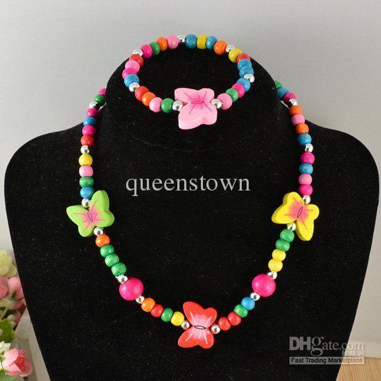 fashion-kids-necklaces-100-wood-round-beads