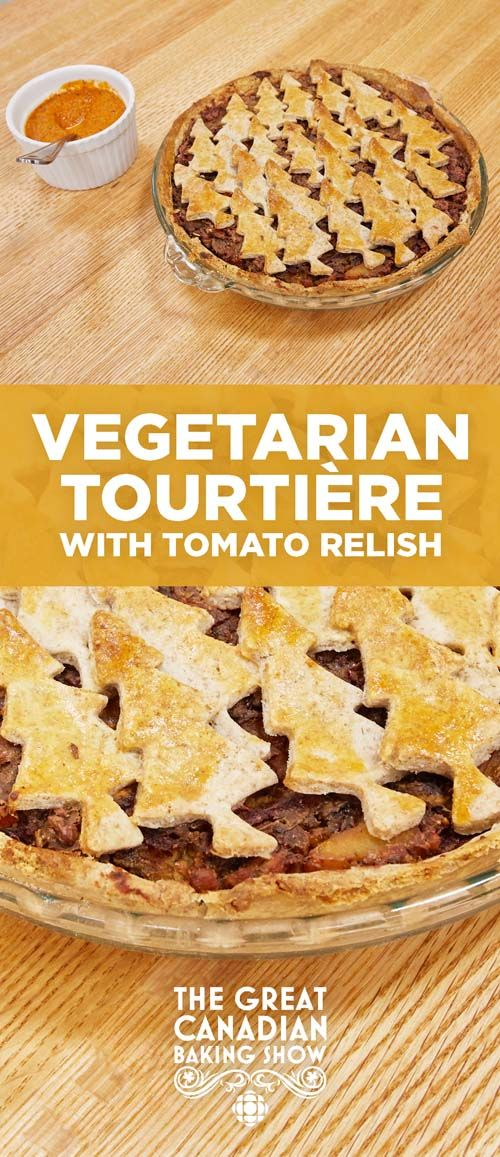 Tourtière is typically made with minced pork, beef or veal, but James Hoyland wowed the judges on The Great Canadian Baking show with a colourful vegetarian version.
