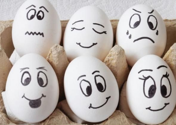 Eier-Mit-Gesicht