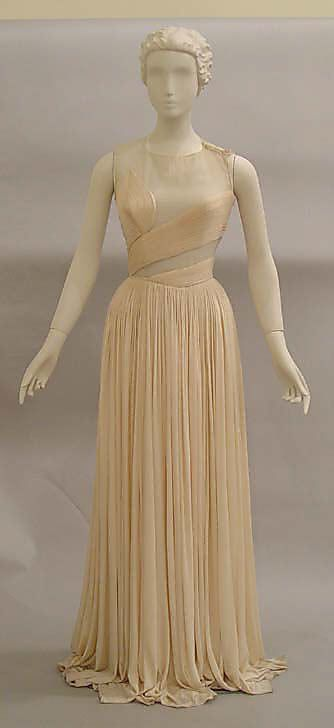 "Evening Dress, Madame Grès (Alix Barton) (French, Paris 1903–1993 Var region): 1987, French, silk.    Marking: [label] (a) ""Grès/Paris"""