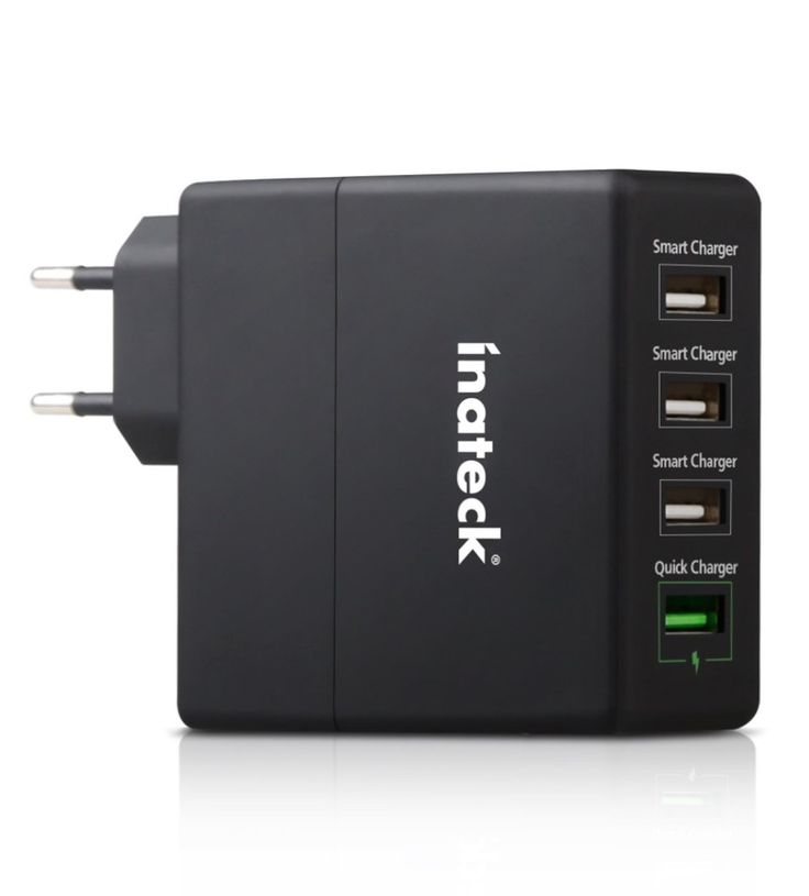Caricabatterie da muro a 4 prese in sconto a 1999 euro 5 USB a 2099 euro