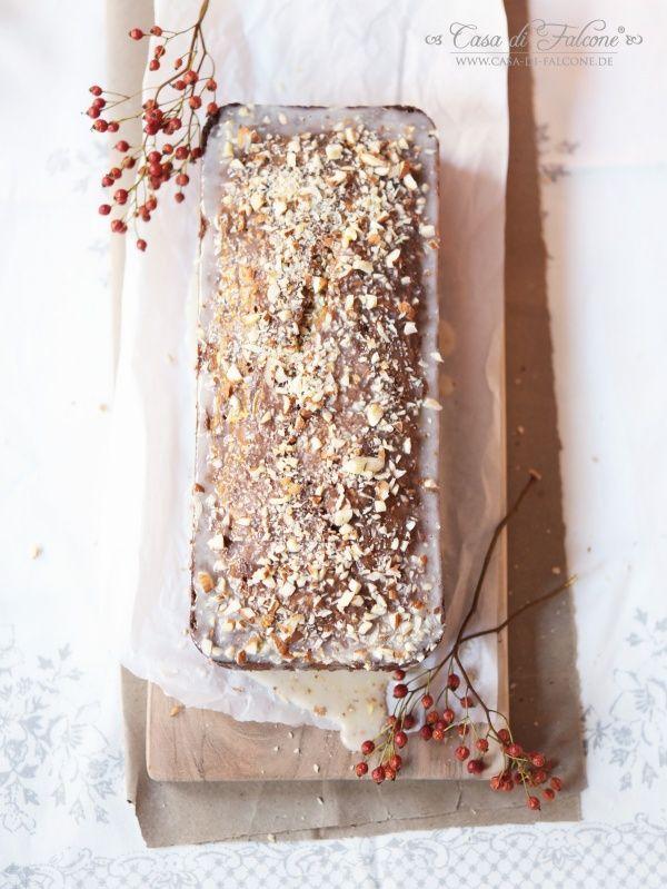 Kürbiskuchen mit Chai-Glasur {Rezept} I Pumpkin cake german recipe I Casa di Falcone